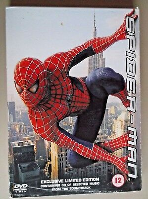 SPIDER-MAN EXCLUSIVE LIMITED EDITION - Tobey Maguire-  DVD - Double disc plus CD