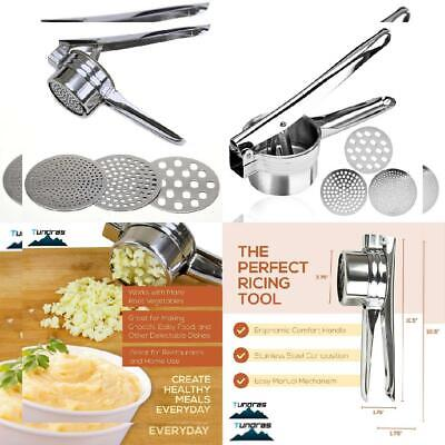 Stainless Steel Potato Ricer – Manual Masher for Potatoes, Fruits,...