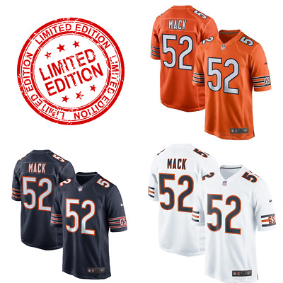 6c8f4f59587 Khalil Mack #52 ORANGE Chicago Bears Men's Game Limited Jersey Free  Shipping!