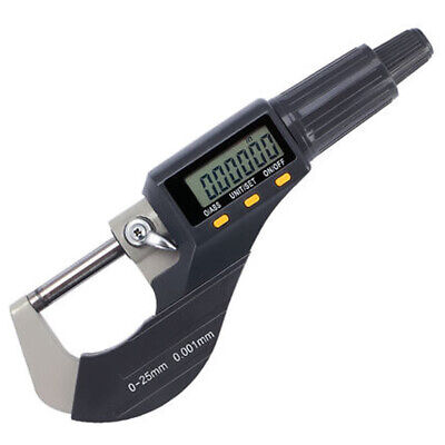 0-25mm Carbide Tip Gauge LCD Scale Outside Caliper Digital Micrometer Electronic