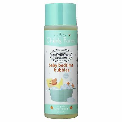 New Childs Farm Baby Bedtime Bubbles, Organic Tangerine 250ml Free shipping