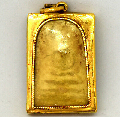 Ancient Thai/Tibetan 21K Solid Yellow Gold Clay Pendant