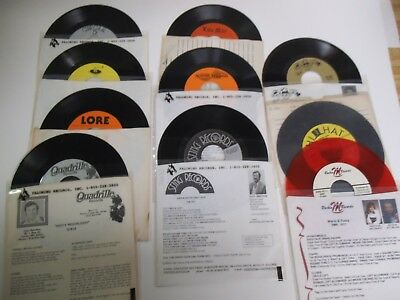 Rare 45's, 25 Different Record Labels, 1960's to 80's, Square Dance US & Foreign