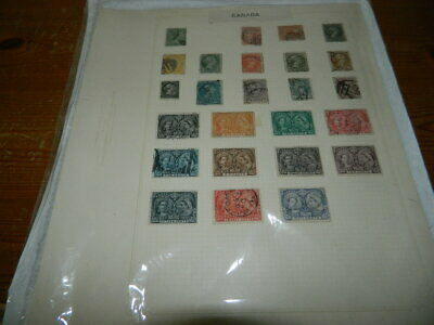 CANADA STAMPS COLLECTION ON LEAVES (Queen Victoria to George VI)