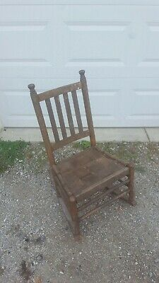 Vintage Wooden Rocking Chair Childrens Chair Antique 1900s Era Needs Restoration
