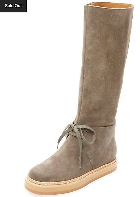 badea8f6a279a $860 NIB SEE BY CHLOE Khaki Suede Tall Tie Boots Seasonless RARE! SOLD OUT  38