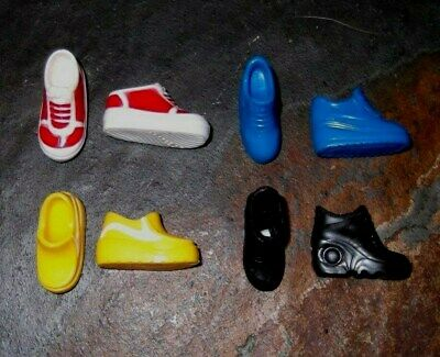 BARBIE DOLL SHOES k77 - 4 PAIRS of ASSORTED SNEAKERS