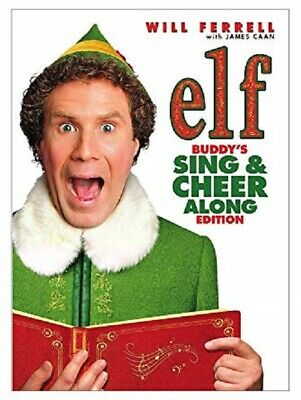 NEW Elf  Sing-A-Long DVD Buddys Sing & Cheer Along Edition New Sealed