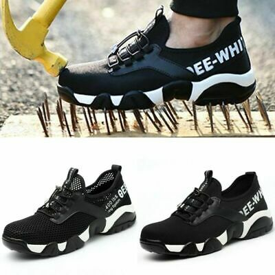 Mens Womens Lightweight Safety Shoes Steel Toe Cap Work Boots Trainers Shoes NEW