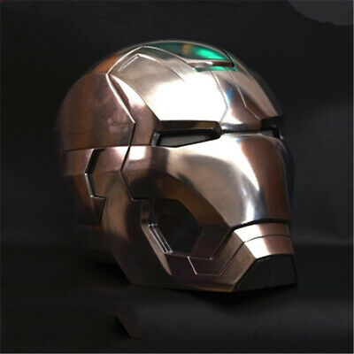 1:1 MK42 Iron Man Helmet Cosplay With LED Replica Polished Full Metal Version