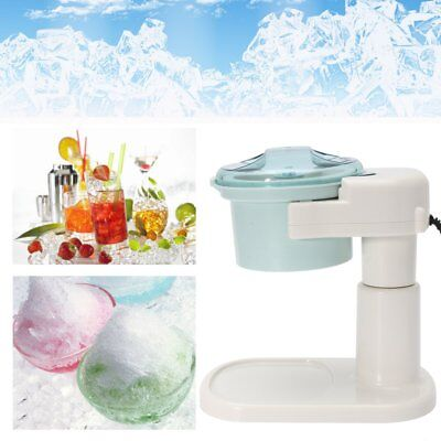 Electric Ice Shaver Machine Snow Cone Maker Auto Slushy Shaving Crusher  UK