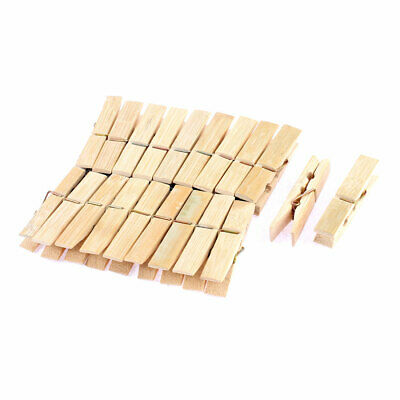 20pcs Wooden Photos Crafts Laundry Hanging Clothes Pins 60mm Length