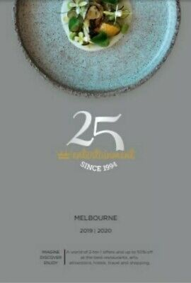 1 x MELBOURNE ENTERTAINMENT BOOK VOUCHERS 2020. GOING TO DIGITAL! FREE POSTAGE