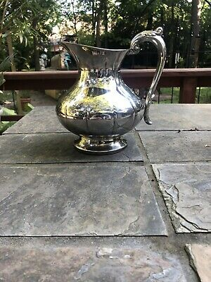 Vintage-Silver and Copper fused Pitcher by The Sheffield Silver Company S-8507