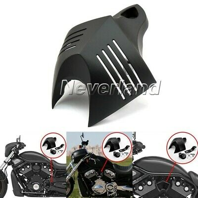Black Twin Cowbell V-Shield Horn Cover For Harley Softail Dyna Electra 1992-2013