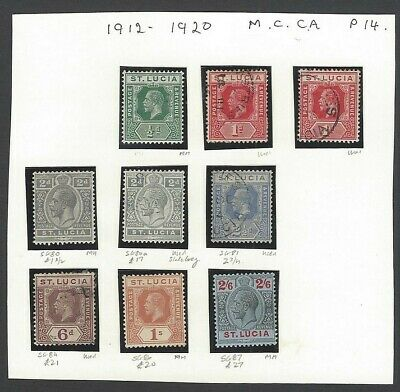 St. Lucia 1912-20 KGV mint & used collection incl. 1s & 2/6 MH
