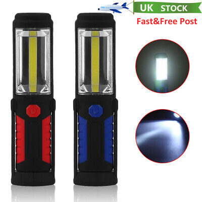 LED COB Inspection Lamp Work Light Flexible Battery Power Hand Torch Magnetic