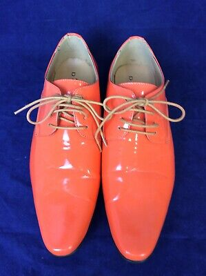 Dobell Mens Racing Green Dress Shoes Patent Contemporary Style Laced
