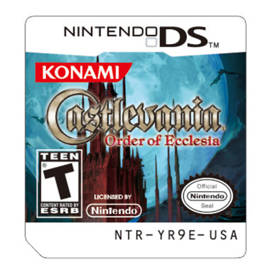 Castlevania Order of Ecclesia Game Card For Nintendo 3DS NDS Lite NDSI NDSXL