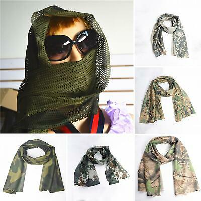 Outdoor Military Scarf Men Summer Tactical Desert Army Camouflage Net Shawl Cool