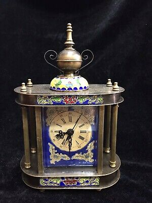 Chinese Old copper handmade Mechanical clock Watch Home decoration