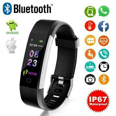 Fitness Activity Sports Waterproof Tracker Smart Watch With Heart Rate Monitor