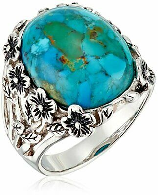 Women Men Turquoise Silver plated Ring Jewelry Wedding Engagement Party Size6-10