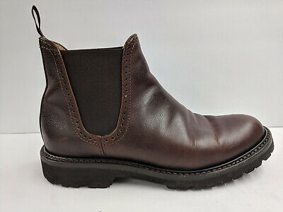 6e0d396fc77 WOLVERINE MEN'S CROMWELL Chelsea Leather Boot Brown W40420 Size 8.5D ...