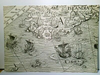 Detail from Olaus Magnus´ Carter marina. Venice 1539. Alte AK s/w. From t 381251