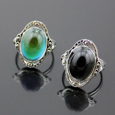 Fashion Temperature Control Adjustable Changing Color Mood Ring Women Jewelry