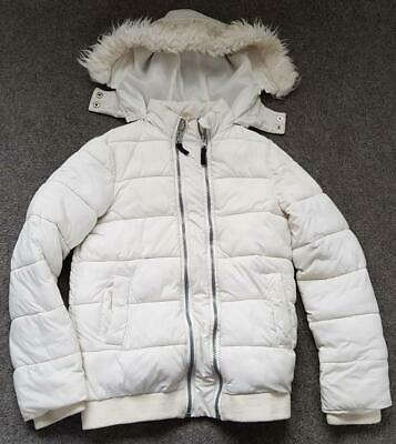 Girls Off White, Padded Coat/Jacket From Very,  With Hood, 9-10 Yrs