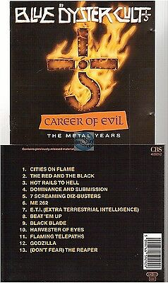 BLUE OYSTER CULT career of evil CD ALBUM the metal years