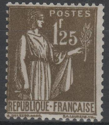 "FRANCE STAMP TIMBRE YVERT N° 287 "" TYPE PAIX 1F25 OLIVE "" NEUF xx LUXE  N427"