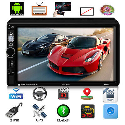 """Android 8.1 Car Stereo MP5 Player GPS Navigation 7"""" 2-Din Radio WiFi BT FM Unit"""