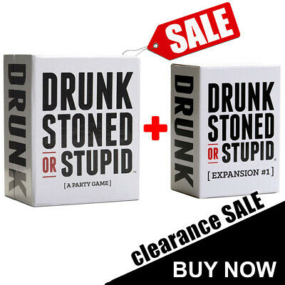 Drunk Stoned Or Stupid Main Set w/ Expansion #1 Party Game Card Game