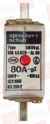 Sprecher & Schuh Din43620-80A / Din4362080A (Used Tested Cleaned)