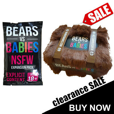 Bears vs Babies Core Deck + NSFW Expansion Card Board Game Party Game