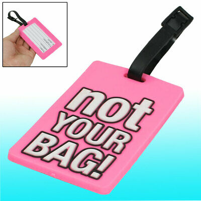 Not Your Bag Words Print Travel Bag Baggage Backpack Luggage Name ID Tag Pink