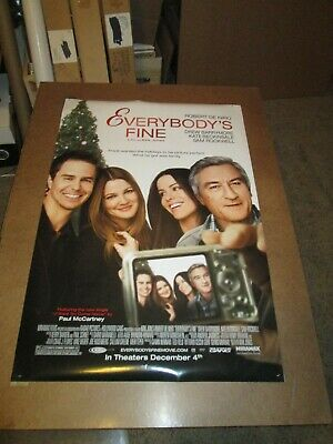 Everybody's Fine double sided 2009  one sheet - 27x40 rolled - free shipping