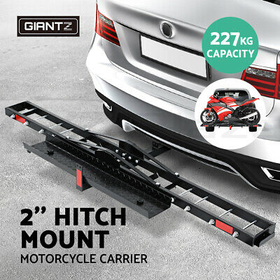 Giantz Motorcycle Carrier Hauler 2'' Hitch Mount Rack Ramp Anti Tilt Tow Bar
