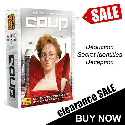 Coup Card Game Deduction Deception Secret Identities Family Party Game
