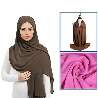 Crinkle Scarf Crimp Hijab Pleated Headscarf Tassled Edged Shawl 35 Colours *CRNK