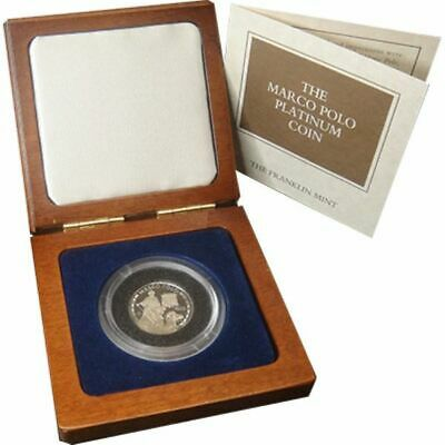 1995 Cook Islands - The Marco Polo Platinum Proof Coin