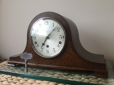 Fabulous Oak Cased Garrard 'Savoy' Westminster Chiming Mantel Clock Full Service