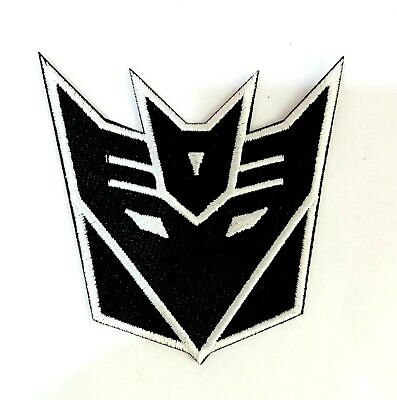 for Balck Transformers Logo Symbol Embroidered patch Iron on Sew Applique Badge