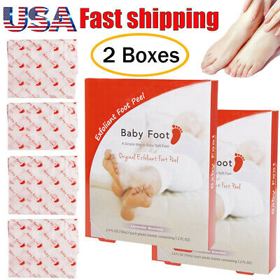 2 Boxes of Baby Foot Lavender Scented Exfoliant Foot Peel Original Box Sealed US