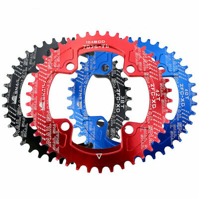 SNAIL MTB Bike Chainring 104BCD 32-42T Chain Ring Round, Oval Narrow Wide