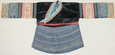 chinese minority people's old local cloth hand embroidery batik costume jacket