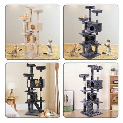 "60"" Cat Tree Tower Condo Furniture Scratching Post Pet Kitten Play Post Bed"
