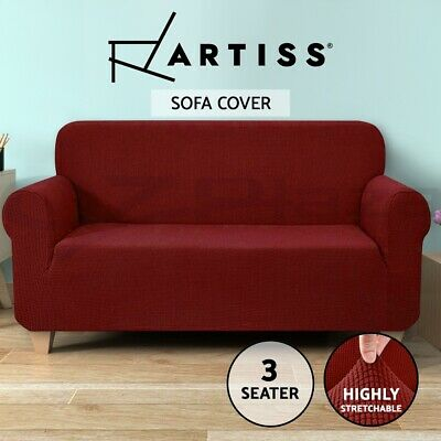 Artiss High Stretch Sofa Cover Couch Lounge Protector Slipcovers 3 Seater Covers